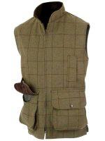 Alan Paine - Rutland Tweed Shooting Waistcoat - Lichen