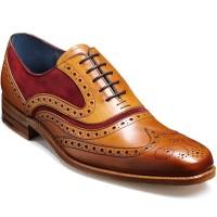 NEW!! Barker Shoes - McClean - Cedar Calf & Burgundy Suede