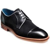 Barker Shoes - Butler - Derby Style - Black Calf & Black Suede