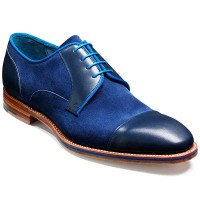Barker Shoes - Butler - Derby Style - Blue Calf & Navy Suede