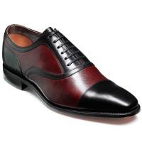 Barker Shoes - Wantage - Black Calf & Cherry Grain