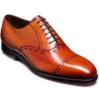 Barker Shoes - Warminster - Toe cap oxford - Rosewood Calf