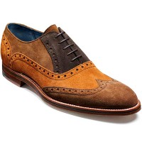 NEW!!! Barker Shoes - Grant - Brogue - Brown Combi Suede
