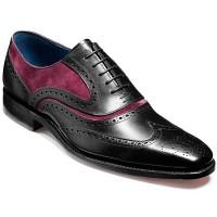 NEW!! Barker Shoes - McClean - Black Calf & Plum Suede