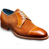 NEW!! Barker Shoes - Butler - Derby Style - Cedar Calf & Suede