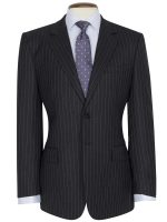 Brook Taverner - Grey Pinstripe Suit - Epsom Classic Fit