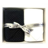 Derek Rose - Cotton Handkerchiefs - Navy Polka Dot & White