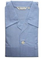 Derek Rose - Jermyn Cotton Pyjamas - Blue Gingham Check