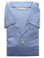 Derek Rose - Jermyn Cotton Pyjamas - Blue Stripes