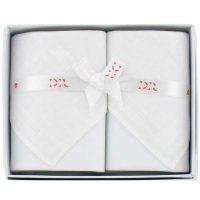 Derek Rose - Pure Cotton Handkerchiefs - White Jacquard