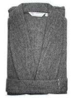 Derek Rose - Wool Dressing Gown - Grey Herringbone
