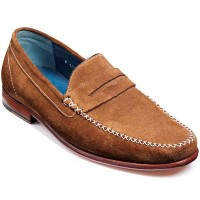 NEW!! Barker Shoes - William Moccasin - Khaki Suede