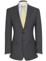 Brook Taverner - Charcoal Birdseye Suit - Dawlish Classic Fit