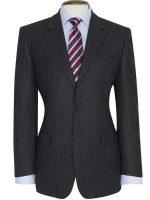 Brook Taverner - Grey - Blue Stripe Suit - Cromford Classic Fit
