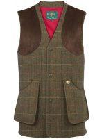 Alan Paine - Compton Tweed Shooting Waistcoat - Peat
