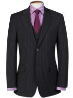 Brook Taverner - Charcoal Pinstripe Travel Suit - Avalino