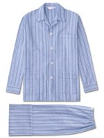 Derek Rose - Arran 20 Cotton Pyjamas - Blue