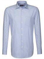 Seidensticker Shirts - Fine Blue Check - Splendesto Cotton
