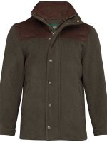 Alan Paine - Loden - Quilted Wool Coat - Olive