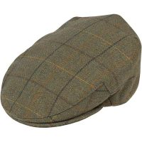 Alan Paine - Rutland Tweed Cap - Dark Moss