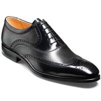 Barker Flex Shoes - Bakewell Brogue - Black Shine & Nappa