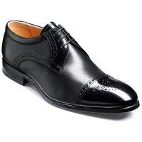 Barker Flex Shoes - Barry Derby Style - Black Shine & Nappa