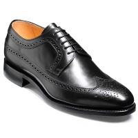 Barker Shoes - Bath - Derby Brogue - Black Calf