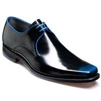 Barker Shoes - Bude - Square Toe - Black & Blue Hi-Shine