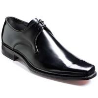 Barker Shoes - Bude - Square Toe - Black Hi-Shine