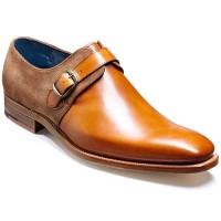 Barker Shoes - Jasper Monk Strap Cedar Calf & Snuff Suede