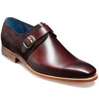 Barker Shoes - Jasper Monk Strap Walnut Calf / Choc Suede