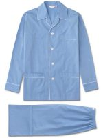 Derek Rose - Maestro 2 Cotton End-On-End Pyjamas - Blue