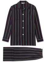 Derek Rose - Regimental ASH Cotton Stripe Pyjamas