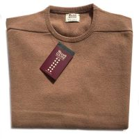 William Lockie - Leven 2 Ply Lambswool Crew Neck - Camel