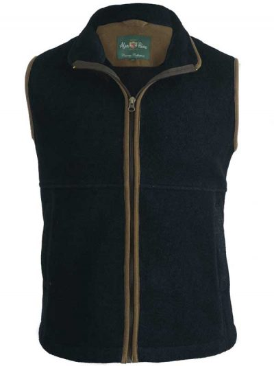Alan Paine - Aylsham Gents Fleece Waistcoat - Dark Navy