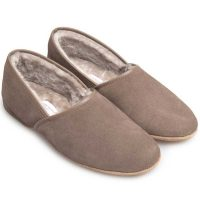 Derek Rose - Crawford Sheepskin Slippers - Beige
