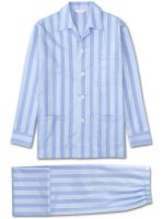 Derek Rose - Mayfair 27 Cotton Satin Stripe Pyjamas