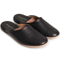 Derek Rose - Men's Morgan Leather Slippers Black