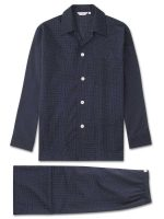 Derek Rose - Plaza Cotton Polka Dot Pyjamas - Navy