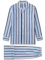 Derek Rose - Windsor 40 Cotton Satin Stripe Pyjamas