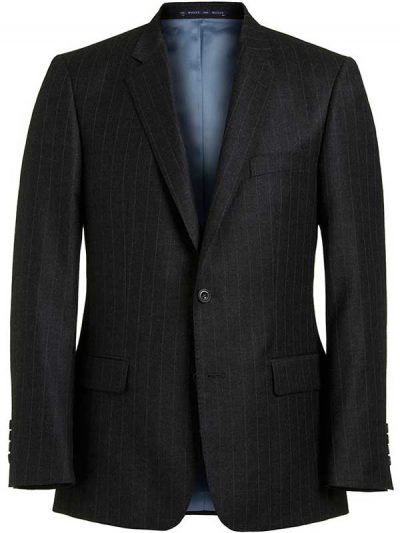 Magee Charcoal Suit with Fine Blue Pinstripe