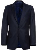 Magee Navy Suit with Fine Red Pinstripe