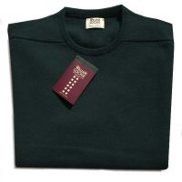 William Lockie - Leven 2 Ply Lambswool Crew Neck - Bottle