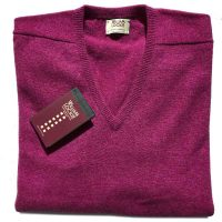 William Lockie - Leven 2 Ply Lambswool V Neck - Vegas