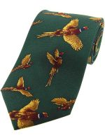 Soprano - Flying Pheasants Silk Country Green Tie
