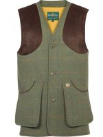 Alan Paine - Compton Shooting Waistcoat - Lovat Green Tweed