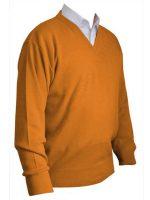 Franco Ponti V-Neck Sweater - Orange