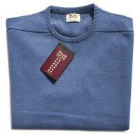 William Lockie - Oxton Cashmere Crew Neck - Lapis Blue