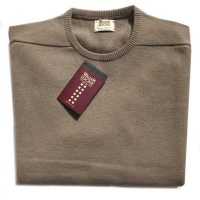 William Lockie - Oxton Cashmere Crew Neck - Dark Natural