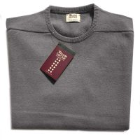 William Lockie - Oxton Cashmere Crew Neck - Derby Grey